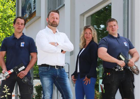 Das Team von Sun Tec Energiesysteme aus Hoort